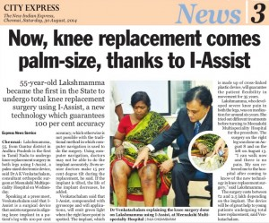 I Assist Knee replacement Chennai