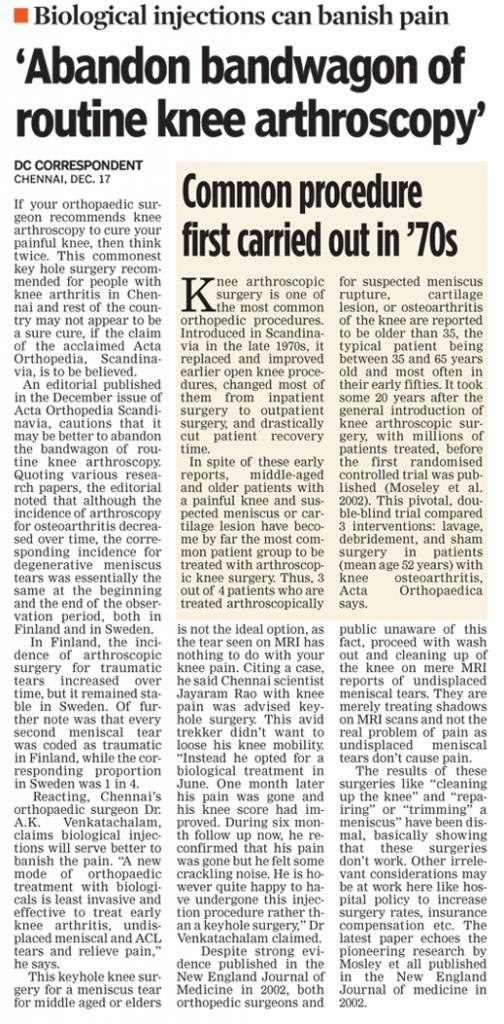 Knee arthroscopy India